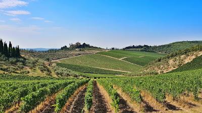 Tuscany wine country landscape