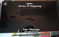 service led tv polytron bsd serpong tangerang