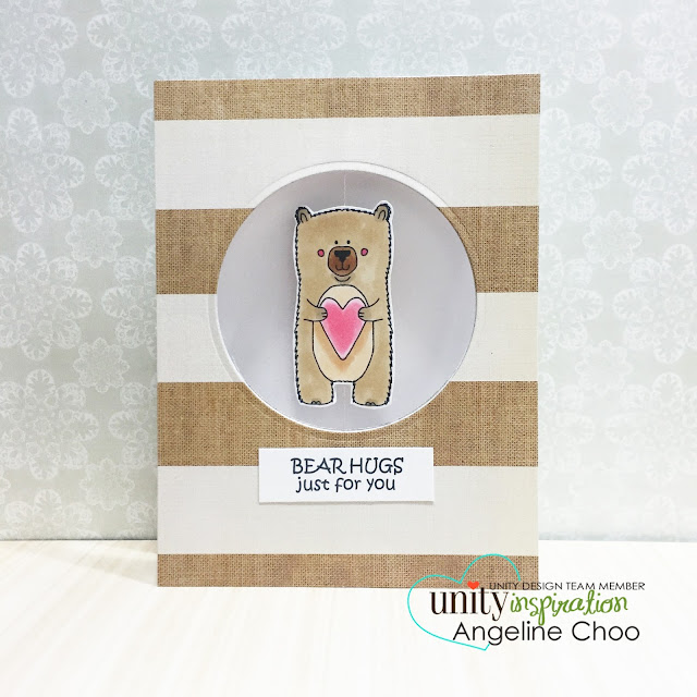 ScrappyScrappy: Unity BIG Blog Hop + New Videos #scrappyscrappy #stamp #stamping #card #unitystampco #copic #coloring #spinnercard #spinningcard #bear #teddybear
