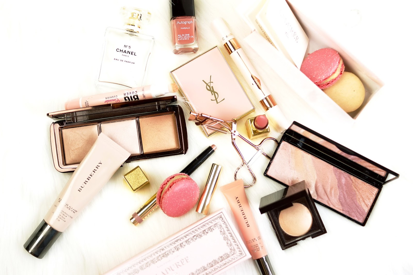 pink-flatlay-makeup-photography-barely-there-beauty-blog