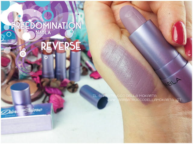 reverse swatches  nabla cosmetics freedomination collection summer lipstick diva crime