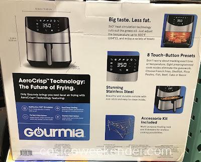 Costco 2232432 - Gourmia Digital Air Fryer: healthier than frying in oil