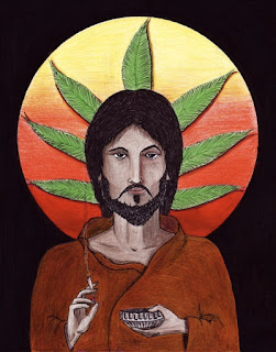 "Icon Drawing of ""Jesus Higher by David Hayward"
