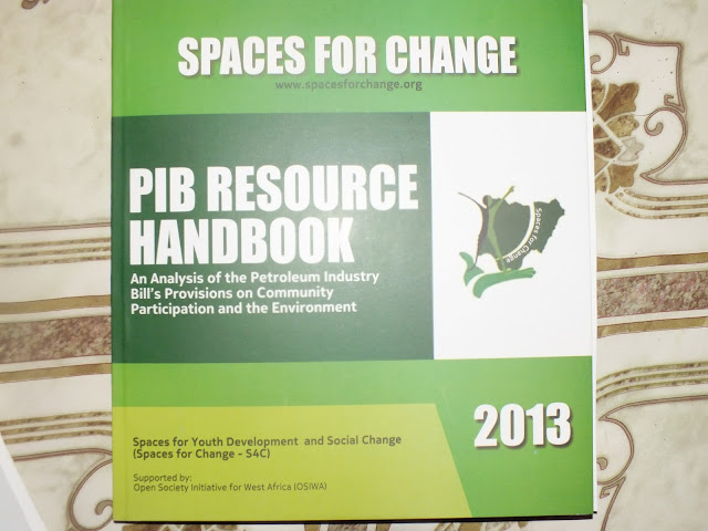 PIB RESOURCE HANDBOOK: Community Participation & the Environment