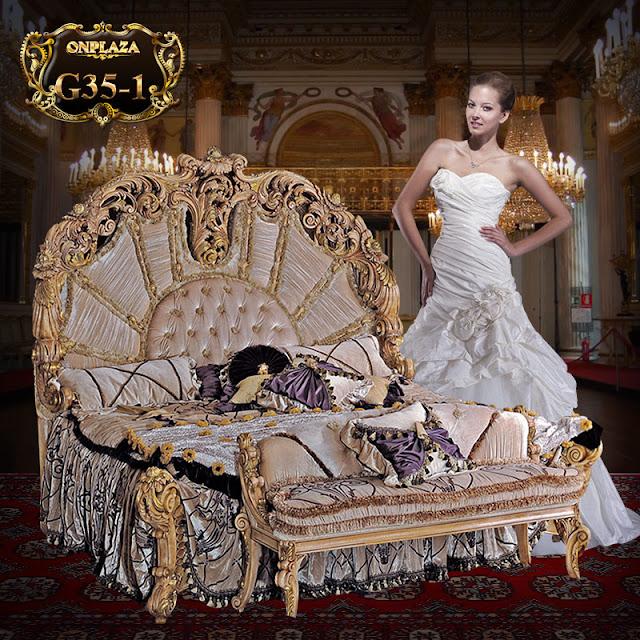 Giường ngủ tân cổ điển cao cấp phong cách hoàng gia Ý sang trọng