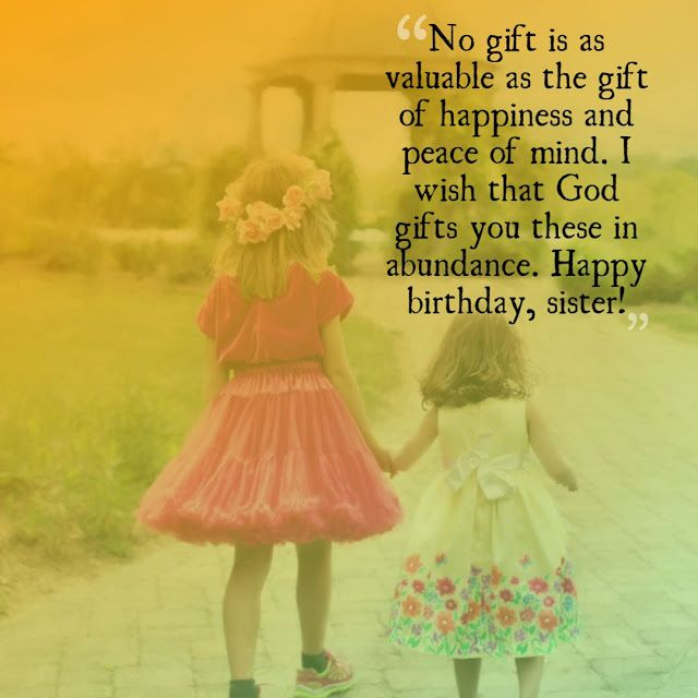 175+ Best Happy Birthday to Sister Messages, Greetings ...