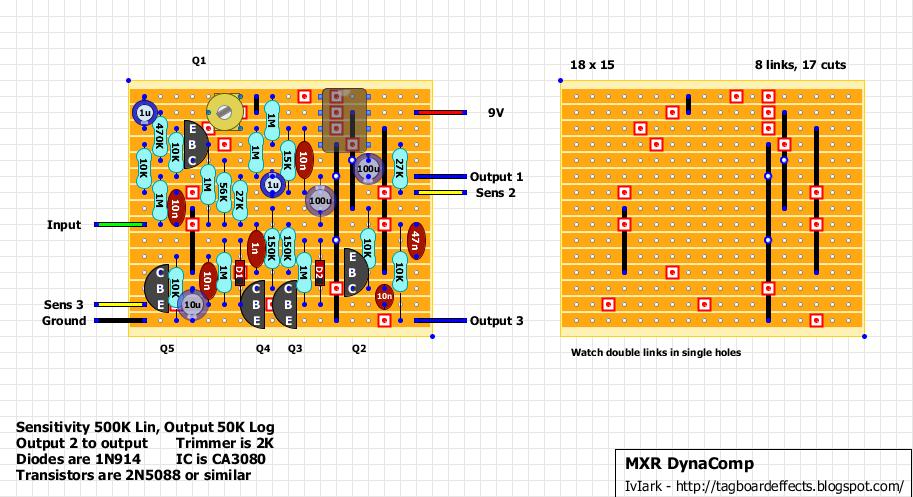 Guitar FX Layouts: MXR Dyna Comp on