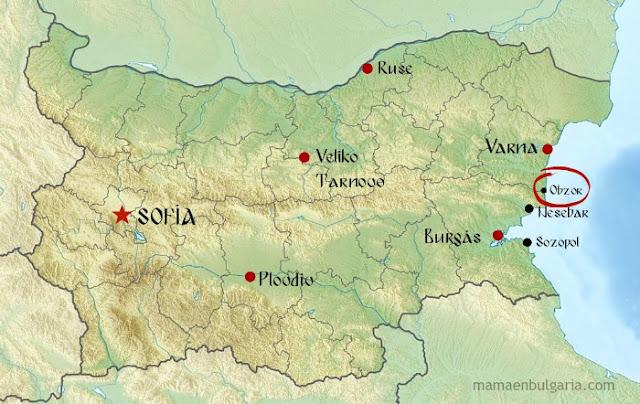 Mapa Obzor Bulgaria