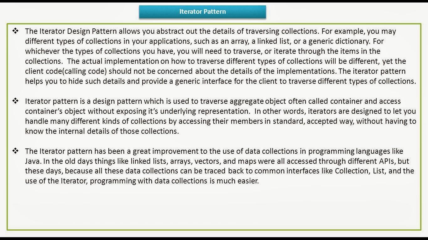 Iterator Pattern Cool Decorating Ideas