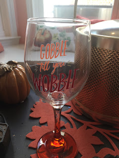 thanksgiving wine glass