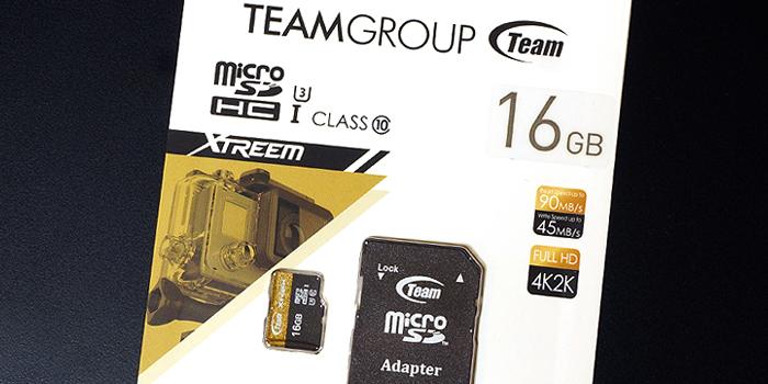 メモリーマルシェで「Team Xtreem マイクロSD カード16GB」を買ってみた