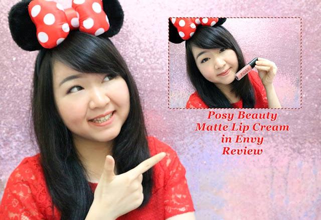 Posy Beauty Matte Lip Cream in Envy Review #MeisUniqueBlog