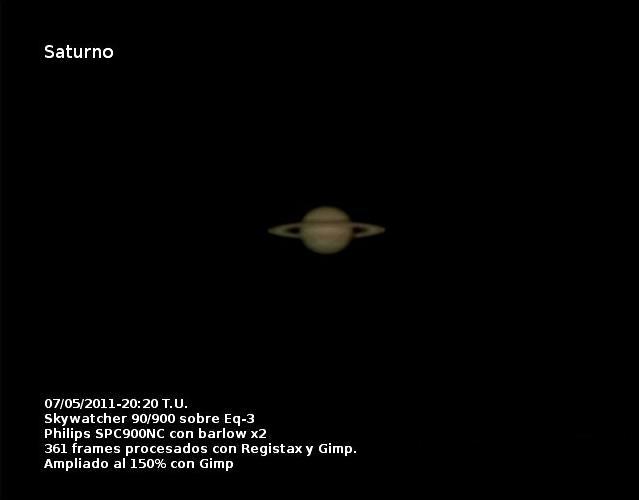 Saturno 7 de mayo de 2011
