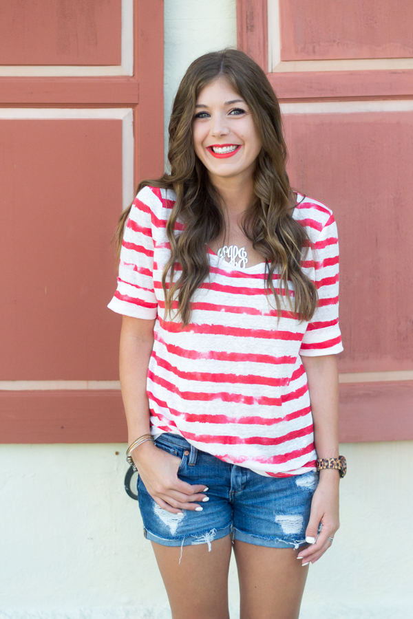 Casual Stripes for the 4th of July by Charleston based fashion blogger Kelsey of Chasing Cinderella