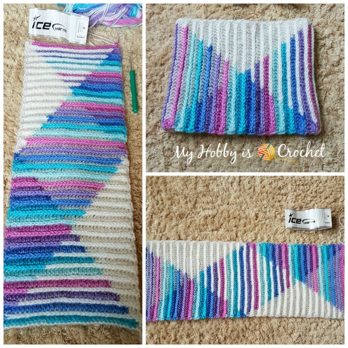 Tutorial: Planned Color Pooling with Long Color Changing Variegated Yarn