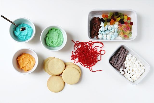 Ingredients for Halloween Monster Cookies