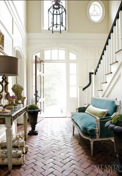 Rooms with chevron and herringbone floor ideas entryway