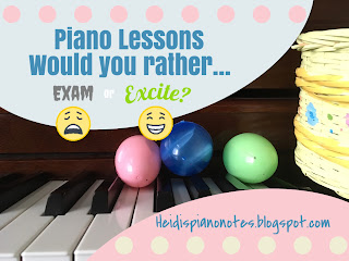 Using a Piano Lesson Game with an egg hunt to assess note reading, rhythm, ear training and other keyboard skills.