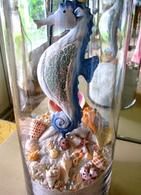 shells in vase