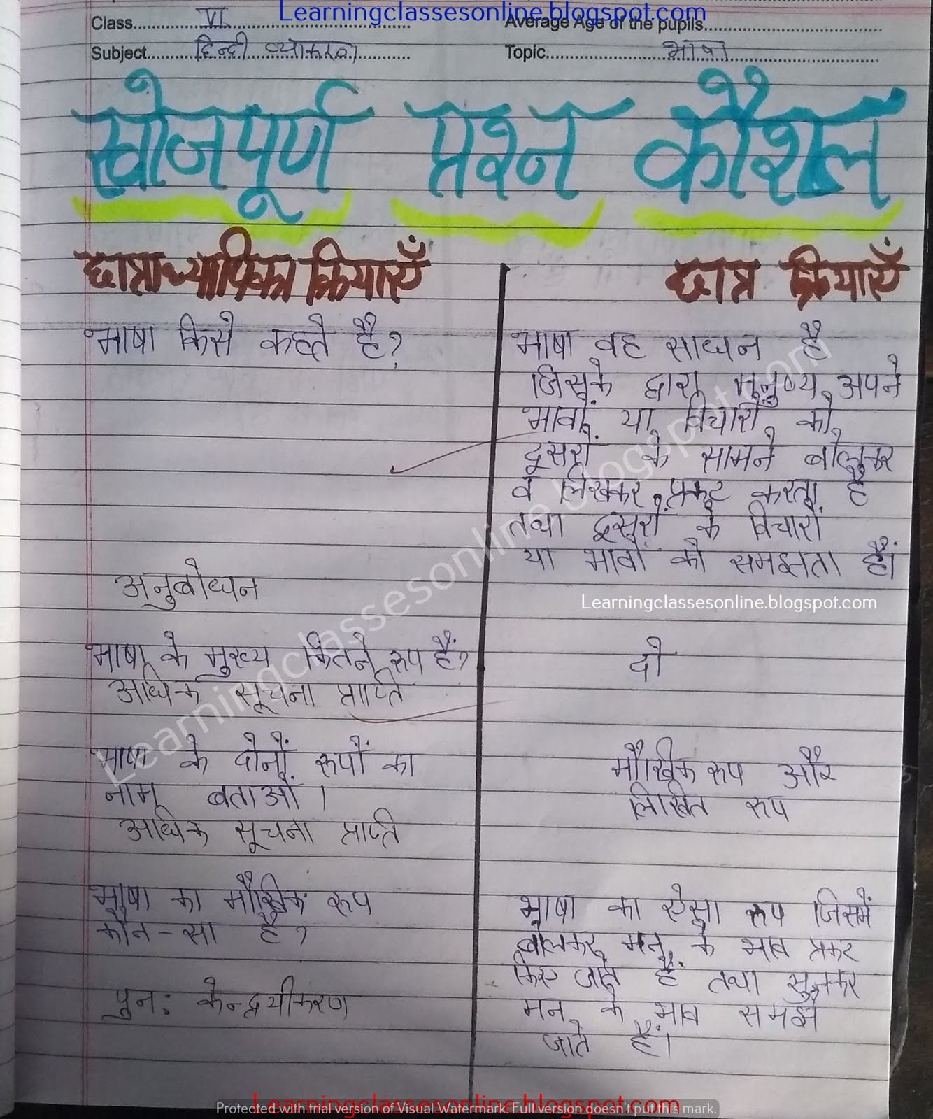 hindi path yojana for b.ed, deled, btc, nios, ignou free download