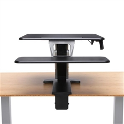 Clamp On Sit To Stand Desktop Convertor