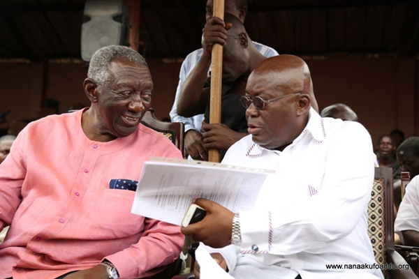 Kufuor laid a solid foundation for Atta Mills, Mahama did the opposite - Nana Addo