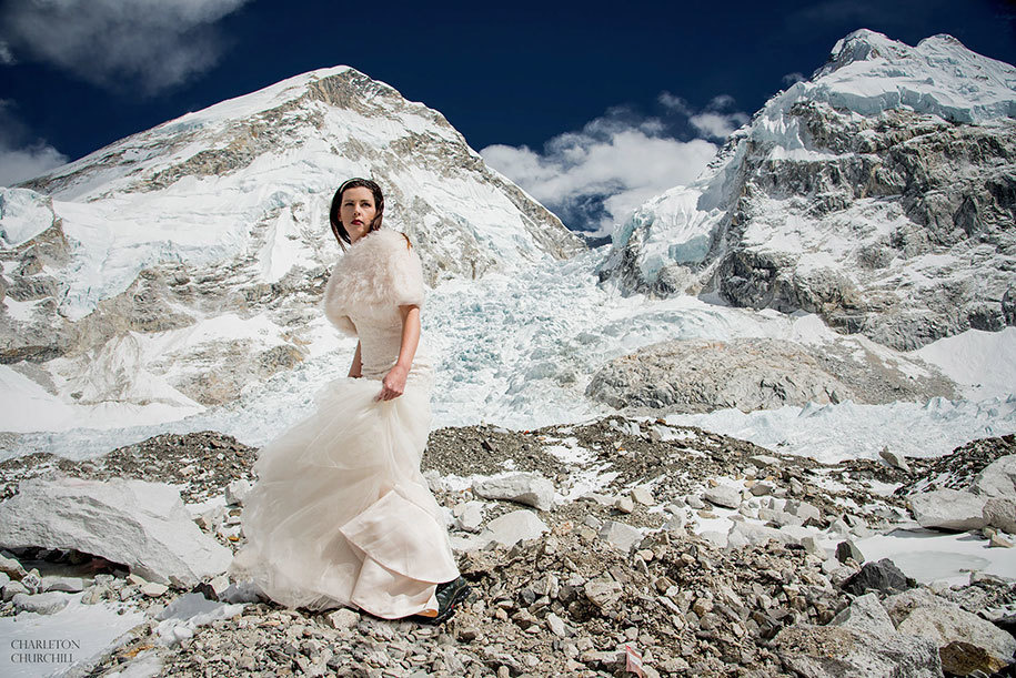 ashley got married on everest