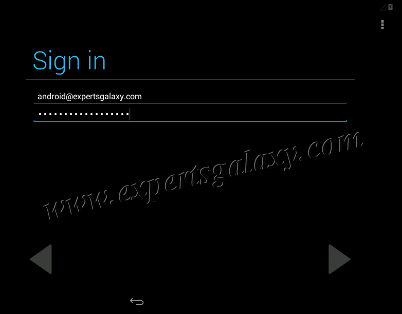 Android Google Sign-in Screen