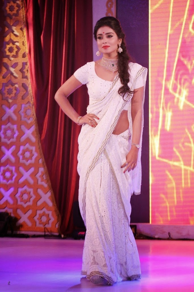 SHREYA SARAN WHITE SAREE PHOTOS