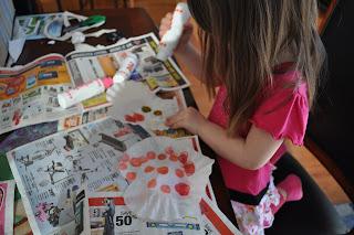 Valentine's day card craft use a dot marker