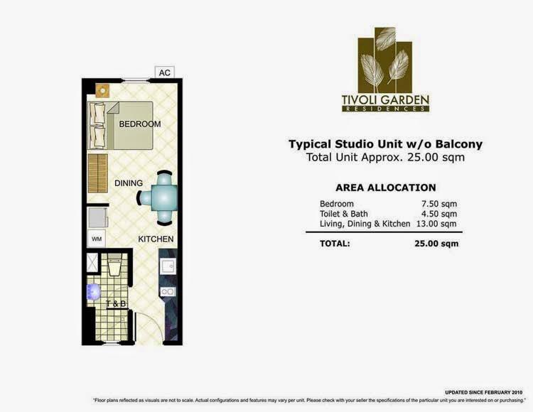 Tivoli Garden Residences Studio Unit 25.00 sqm