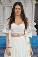 Telugu Actress Amyra Dastur Stills in White Skirt and Blouse at Anandi Indira Production LLP Production no 1 Opening  0073.JPG