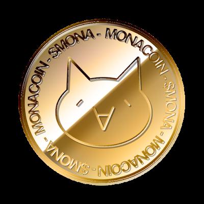 モナコイン(MonaCoin)のフリー素材(金貨ver)