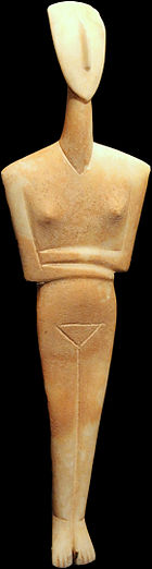 Dokathismata figurine, Early Cycladic II, Syros phase (2800–2300 BC)  Goulandris Museum of Cycladic Art   Photo;Ophelia2