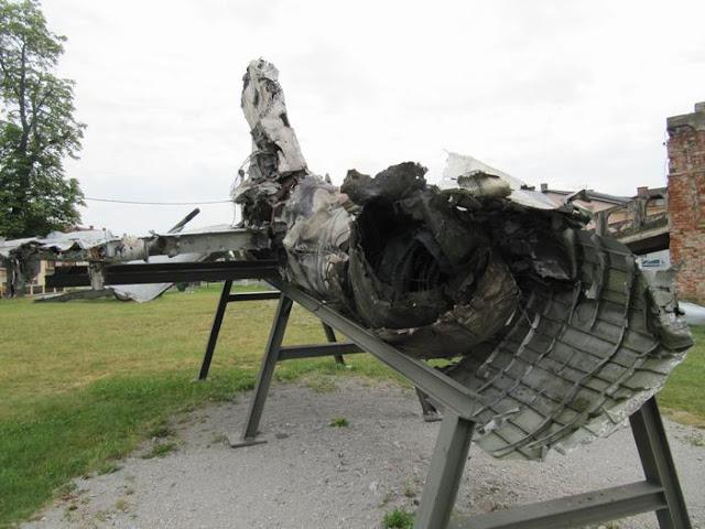 Mig 21 bis que había servido en el 117 regimiento de las fuerzas aéreas de la JNA, mig 21 derribado