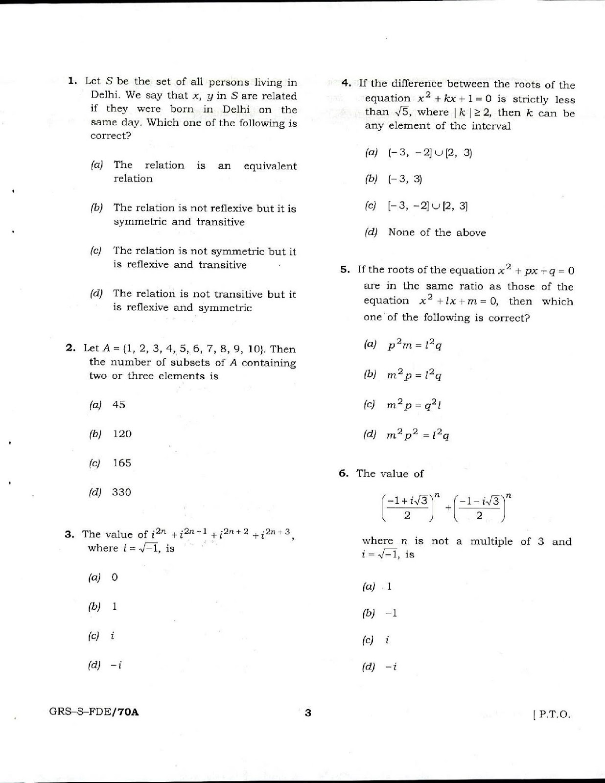 Pdf paper nda previous with answers year question