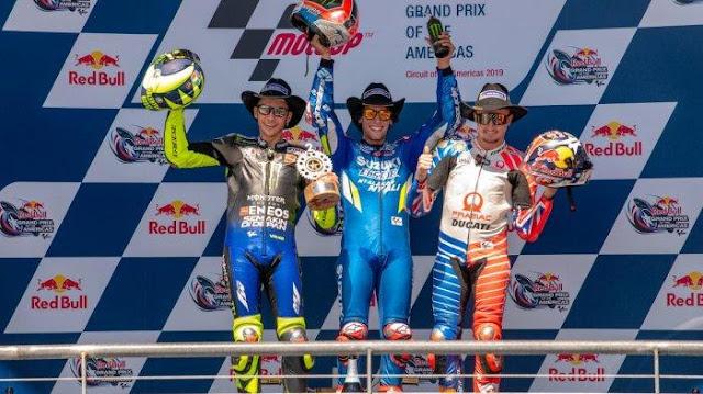 Ekspresi Alex Rins Meledak Usai Memenangkan MotoGP Austin 2019