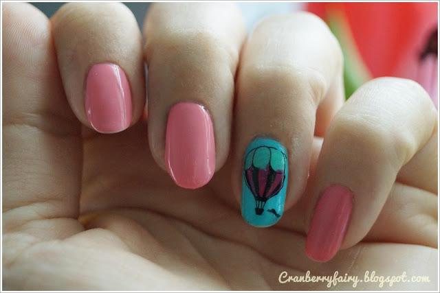 baloniki na paznokciach