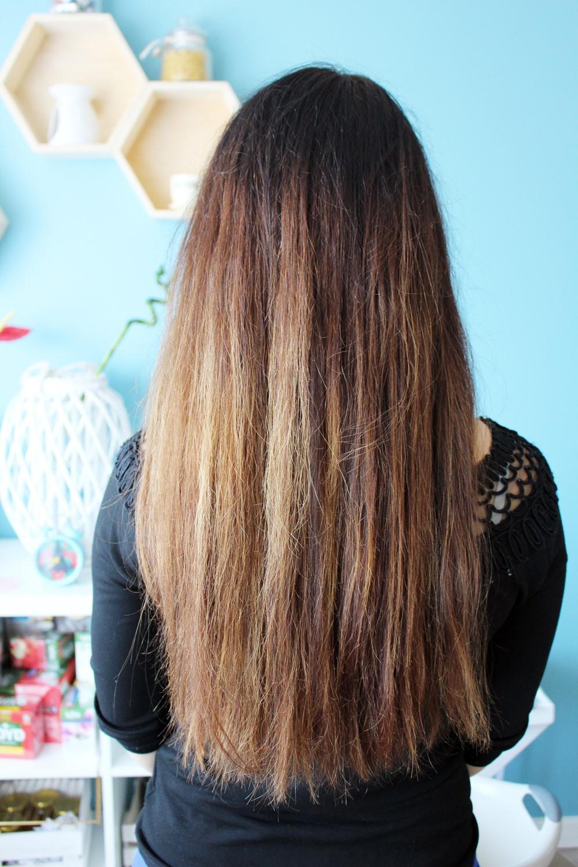 puszące się włosy zdjęcie przed keratynowym prostowaniem włosów