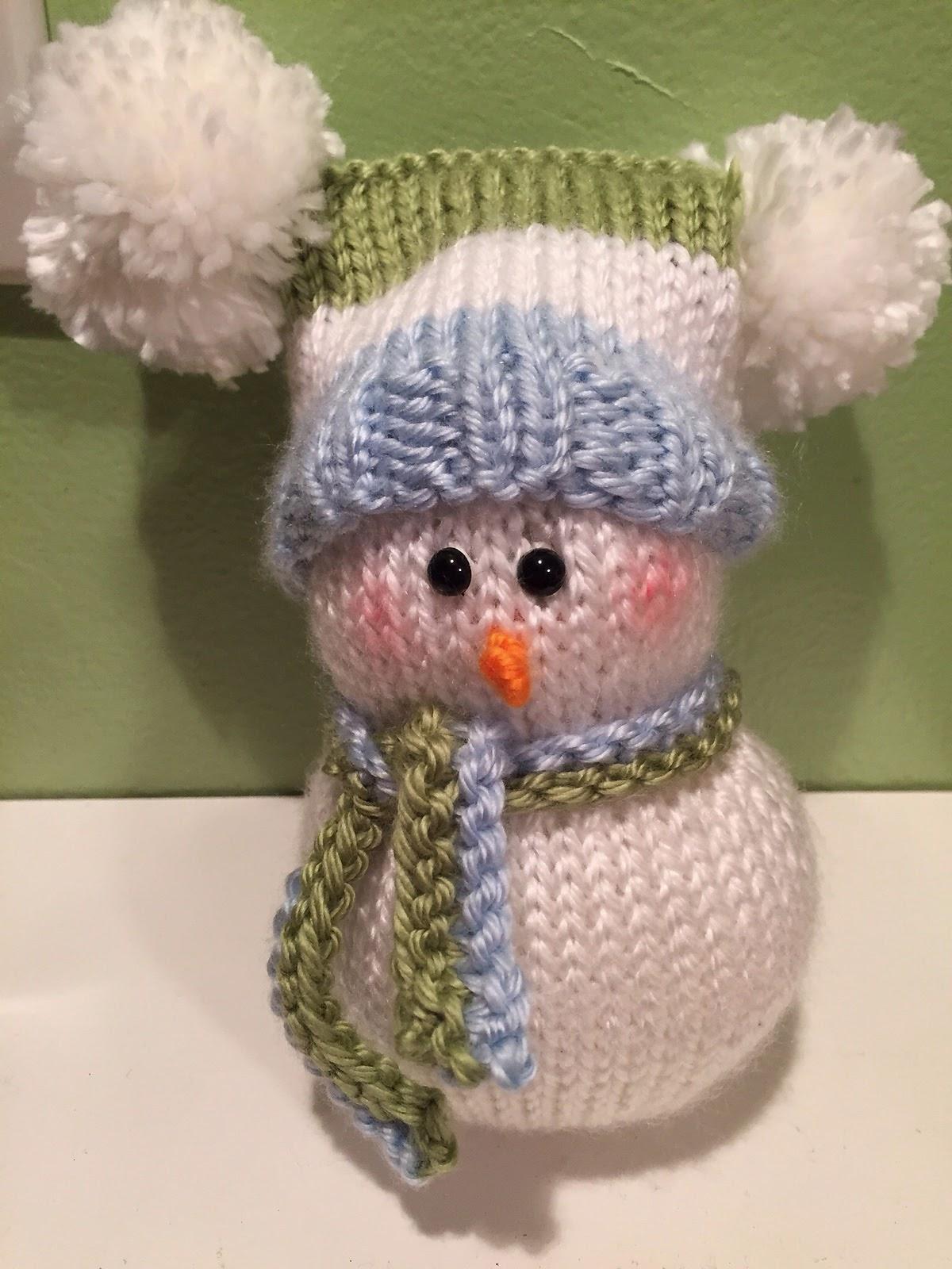 cheryl's blog: Knitted Snowman Pattern