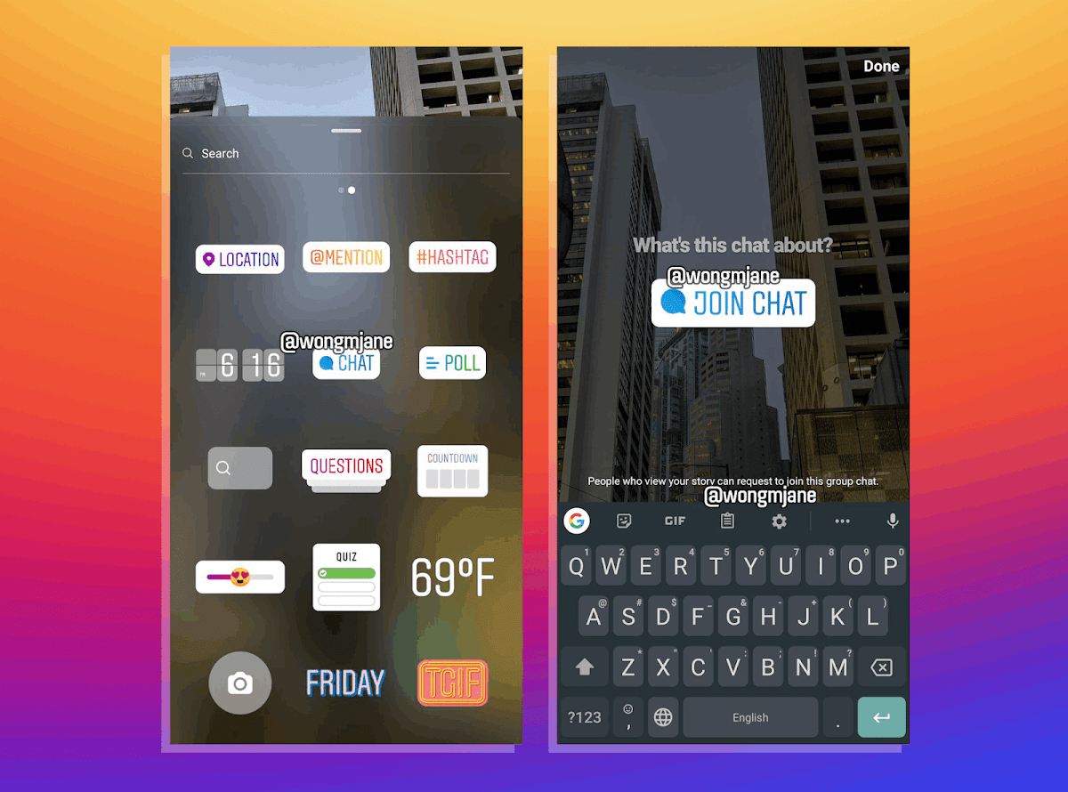 Instagram is Reportedly Testing out a Chat Sticker Option for Story Users!
