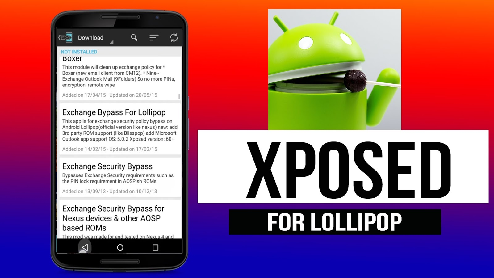 Install xposed Framework in Android 5 0 & 5 1 ~ HiFi Tricks