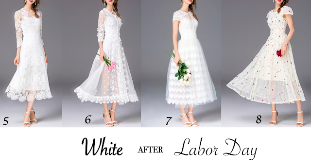 StyleWe, White Dresses at StyleWe, White after Labor Day