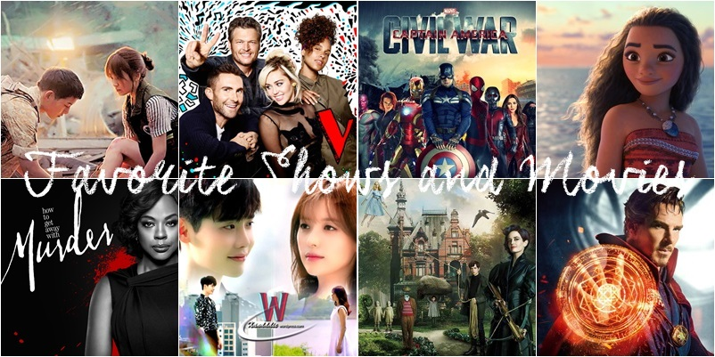 2016 favorite shows and movies
