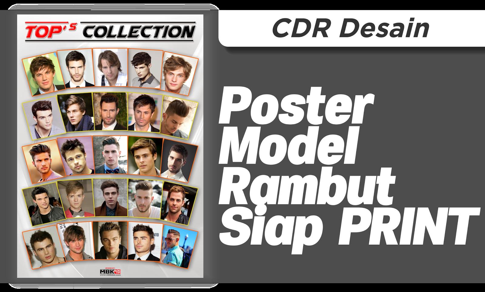 Download Poster Model Rambut, Siap Cetak