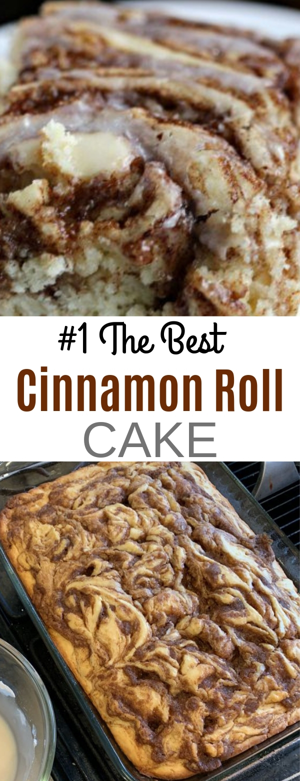 #1 The Best Cinnamon Roll Cake