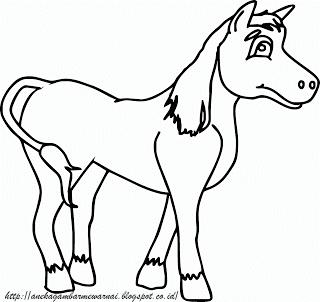Gambar Mewarnai Kuda Untuk Anak PAUD dan TK 3