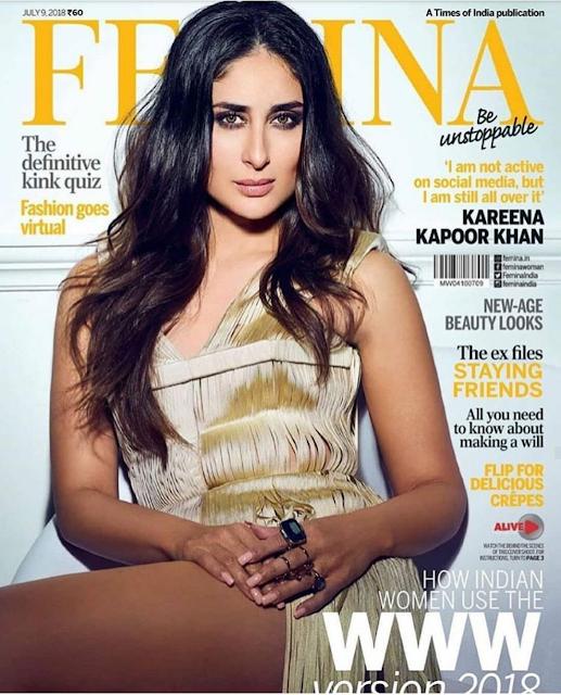 Kareena Kapoor Sizzles on July 2018 Cover of Femina