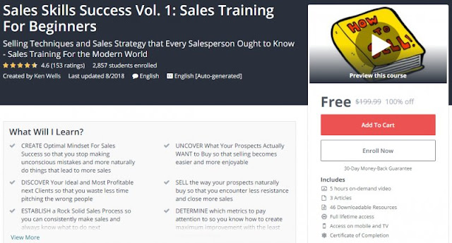[100% Off] Sales Skills Success Vol. 1: Sales Training For Beginners| Worth 199,99$