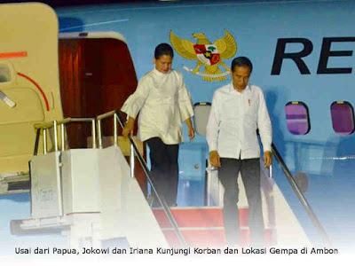 Usai dari Papua, Jokowi dan Iriana Kunjungi Korban dan Lokasi Gempa di Ambon